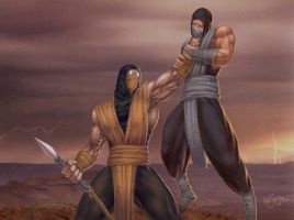 Scorpion vs Sub-Zero by psentman