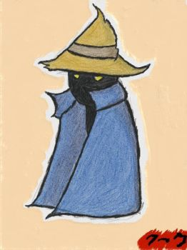 Black Mage - Finished Sketch by TheMarc1k1