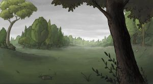 park painted bg by DianeAarts