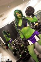 She-hulk working out by CanteraImage