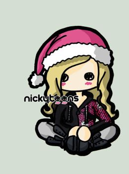 Avril Lavigne Christmas by NickyToons
