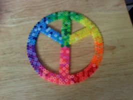 perler peace sign by dylrocks95