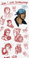 First Day O' 2014 Sketchdump?? by Okonominazi