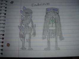 Minecraft - Enderman Girl by Waddle-Dance