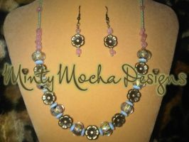 Antiqued Necklace and Earrings by MintyMocha