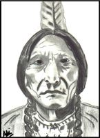 Native American Chief Sitting Bull by manarnadine