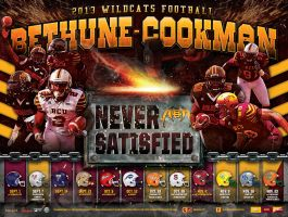 bethune cookman football poster by Satansgoalie