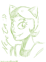 HS_Nepeta Sketch by Chivi-chivik