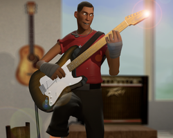 The lil' Guitar Hero by d0ntst0pme