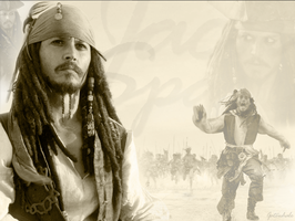 jack sparrow wall by Gatewhale