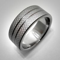 Knurled Stripe Ring by Spexton
