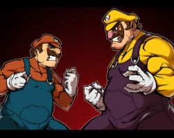 Mario Vs Wario Colors by Anny-D