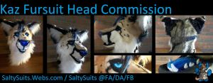 Kaz Fursuit Head Commission by SaltyPuppy