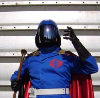Cobra Commander with cape 3 by FraterSINISTER