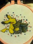Pikachu and Eevee Patch by EmbroideryMW101