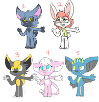 Anthro batch 2 OPEN by Ruby-adopts