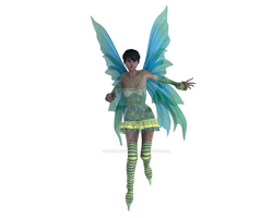 Fairy with Blue and Green Wings by dreams2media