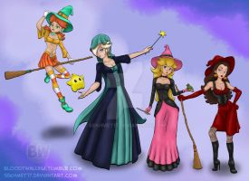 The Princess Witches (and Pauline) by Sekhmet17