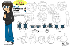 Billys Toon Times - Billy Ref Sheet by BillyBCreationz