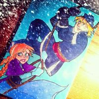 Kristoff and Anna (FROZEN) by Alola07