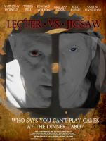 Lecter VS Jigsaw Poster by Coleslayer