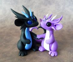 Scrap Dragon Couple by DragonsAndBeasties