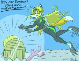 Stacey's Scuba Discovery -Commission- by Django90