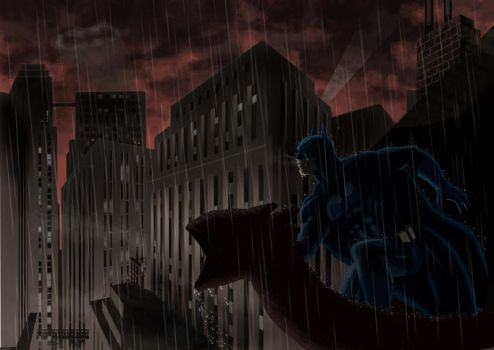 Batman painting by CanalesComics