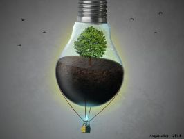 Life in a bulb #3 by asganafer