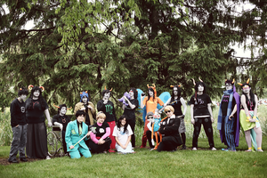 POSE AS A TEAM - Homestuck by sapphireOrigin