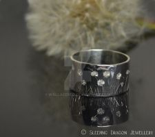 Summer meadows - hand engraved ring by WallaceReg