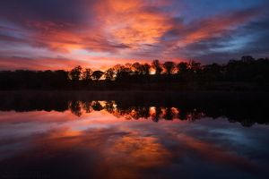 Dark Figures and Fiery Skies by FlorentCourty