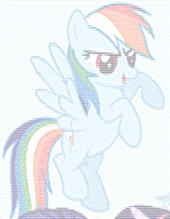 Rainbow Dash ASCII 2 by Qeinone