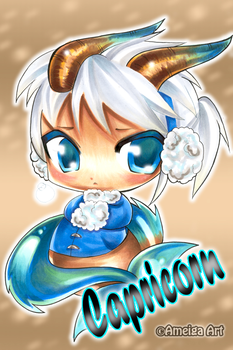 Capricorn:::Chibi by AmeigaArt