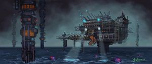 Super Max Prison at Sea by RC-draws