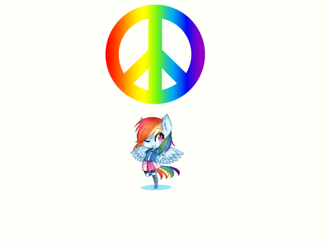 The Rainbow Of Peace by TylerCluberlang