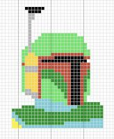 Boba Fett cross stitch by crawdadEmily