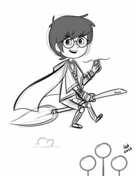 harry potter fan art by 7thorserider