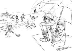 Soul Eater - Beach sketch by Puffsan