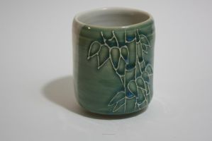 Bamboo 12 leaves tea cup by skimlines