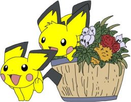 Pichu buddies part deux by Sajirou