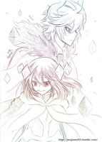 Gray Garden -kcalb and etihw by Crazy-megame