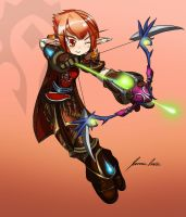 JoveNini Commission - Cheyele (WoW to Elsword) by ofpink