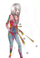 Rainbow zombie by Exploding-Zombies