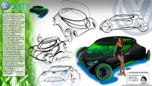 VW CarITY Concept Sketchbattle by ecco666
