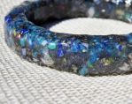 Blue Composite Gemstone Resin Bangle by merrypranxter