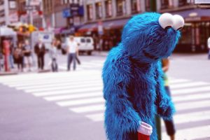 Cookie Monster in NYC by strueberry