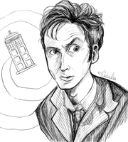 Tenth Doctor by monkette