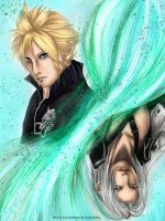 Cloud and Sephiroth by PsycoPainou