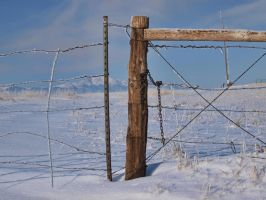 snowy fence 2 by fotophi